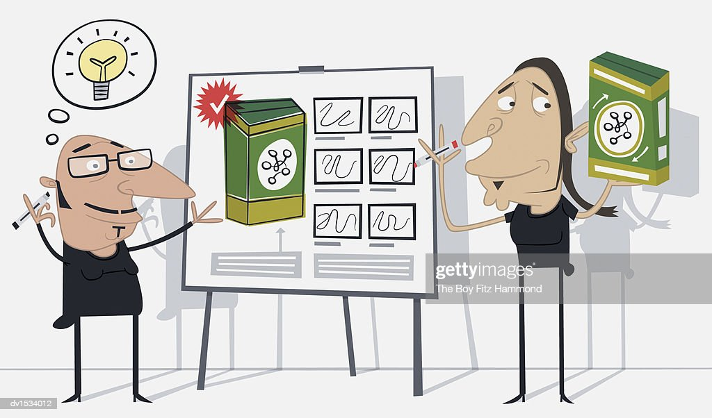 Advertising Industry Businessmen Explaining an Idea for a Product : Stock Illustration