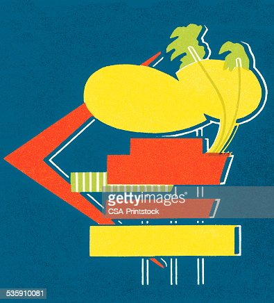 Advertisting Sign : Stock Illustration