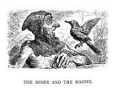 Aesop's Fables illustration - Cassell Petter and Galpin - 1868