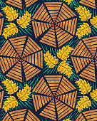 African Pinwheel Fabric or Background Pattern. Designed form my own handcut linoleum blocks that were printed onto paper then digitalized.