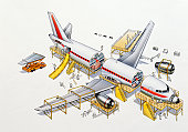 Airliner, expanded cross-section, elevated view