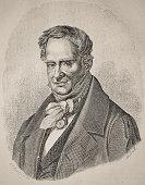 history, vintage, illustration, retro style,  18th Century Style, old, Alexander von Humboldt, Portrait,