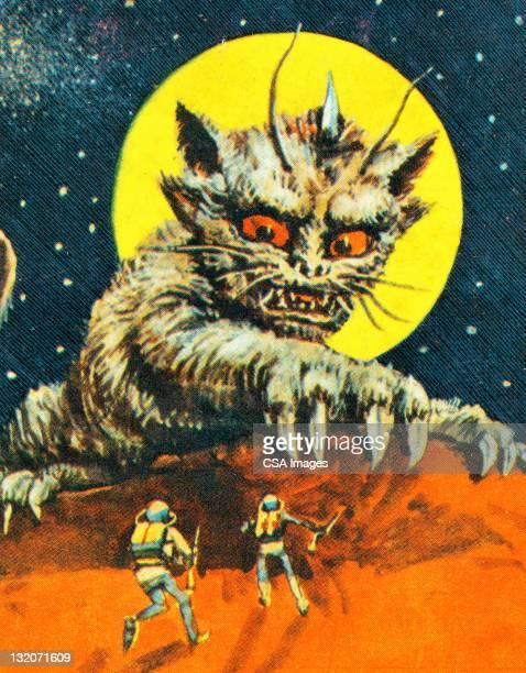 Alien Cat Monster