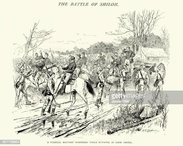 American Civil War, Battle of Shiloh, Captured federal artillery