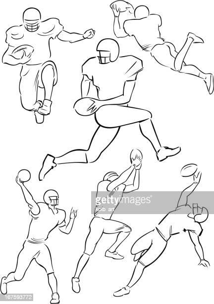 American Football playing figures 4