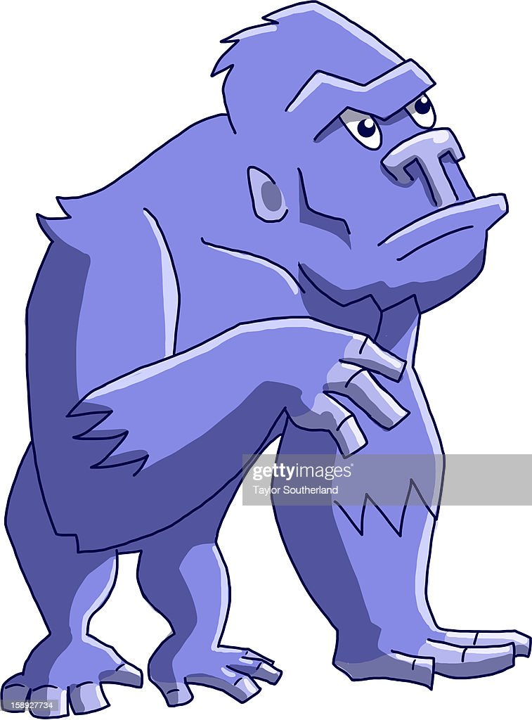 An ape against white background : Stock Illustration