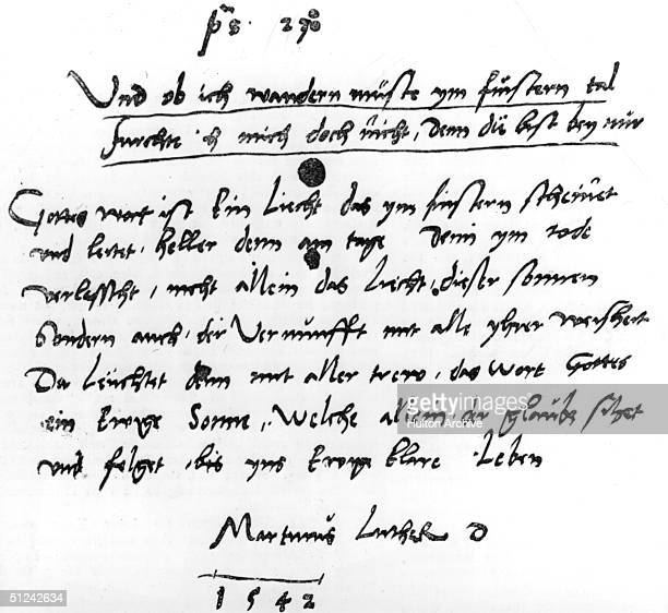 1542 An autograph of the German religious reformer Martin Luther