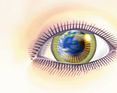 An eye, CG, 3D, Illustration, Close Up
