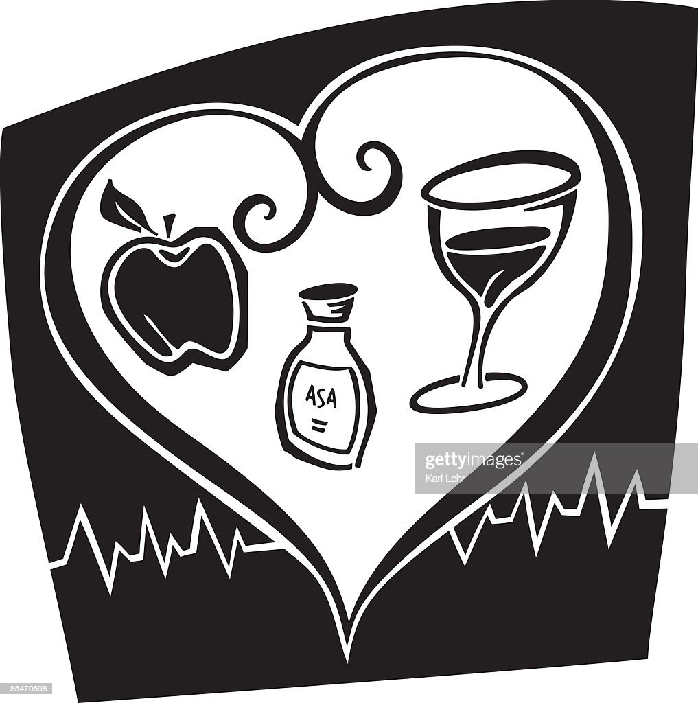 An illustration about heart health : Stock Illustration