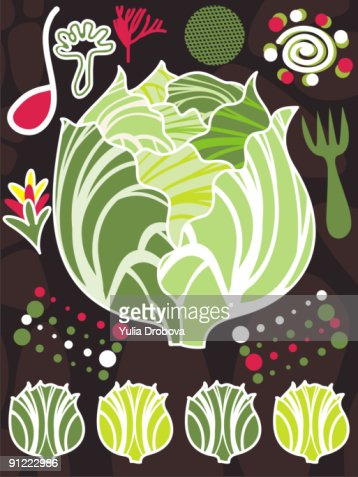 An illustration about lettuce and salad : Stock Illustration
