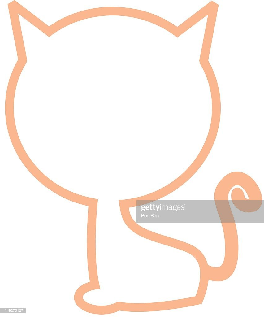 An outline of a cat : Stock Illustration