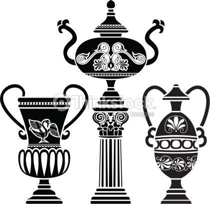 Ancient Greek Vase Vector Art Thinkstock