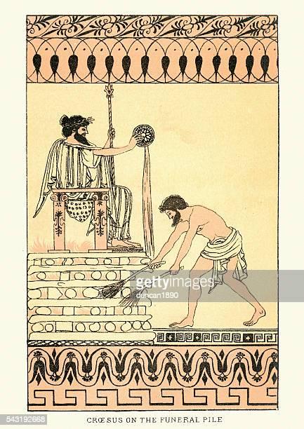 Histoire ancienne-Croesus à des funérailles Pile