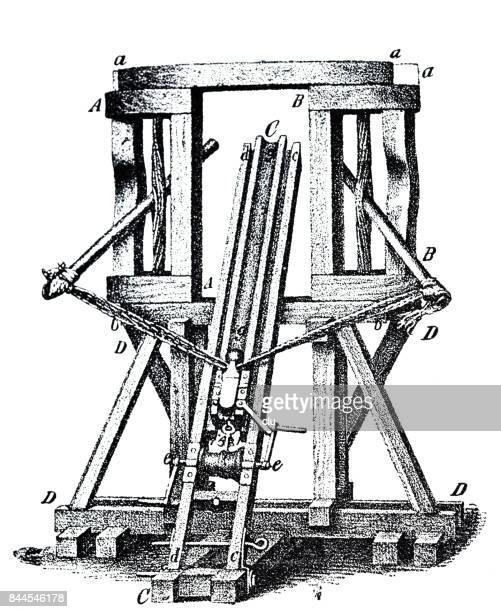 Oude Romeinse wapen: katapult