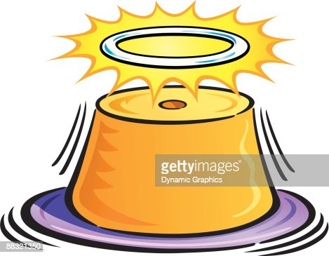 Angel Food Cake With A Halo Color Vector Art | Getty Images