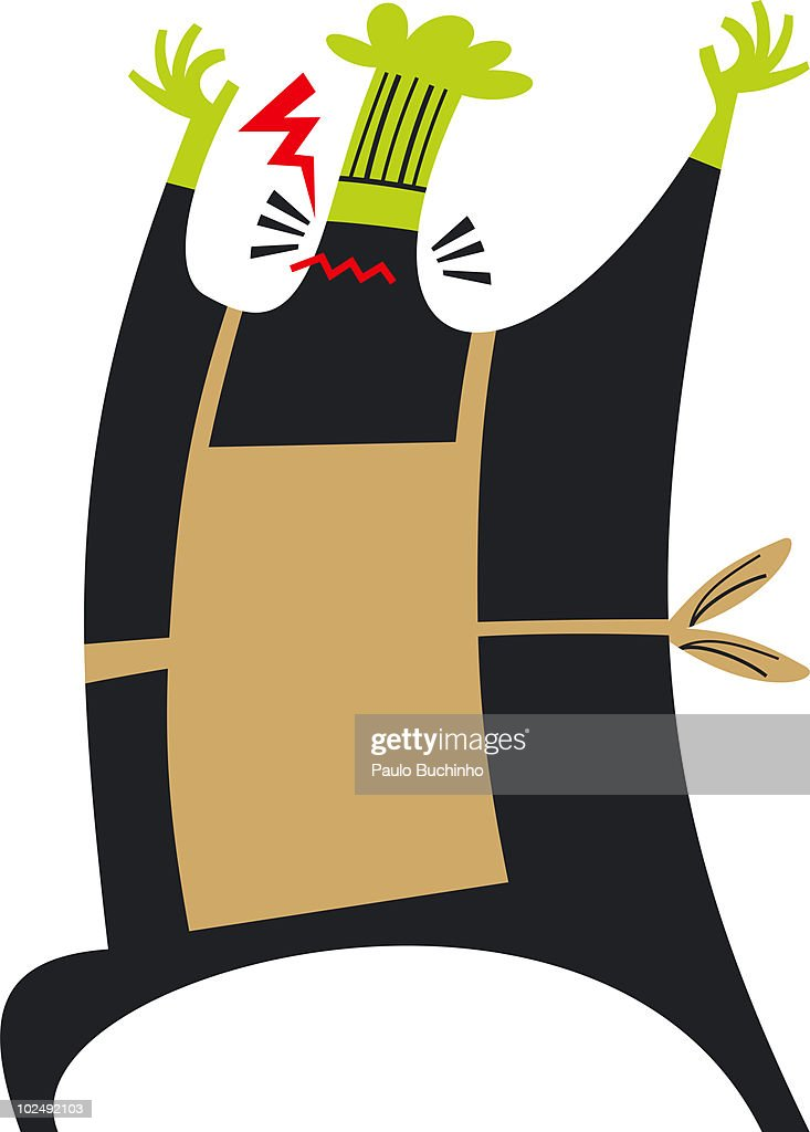 Angry chef : Stock Illustration