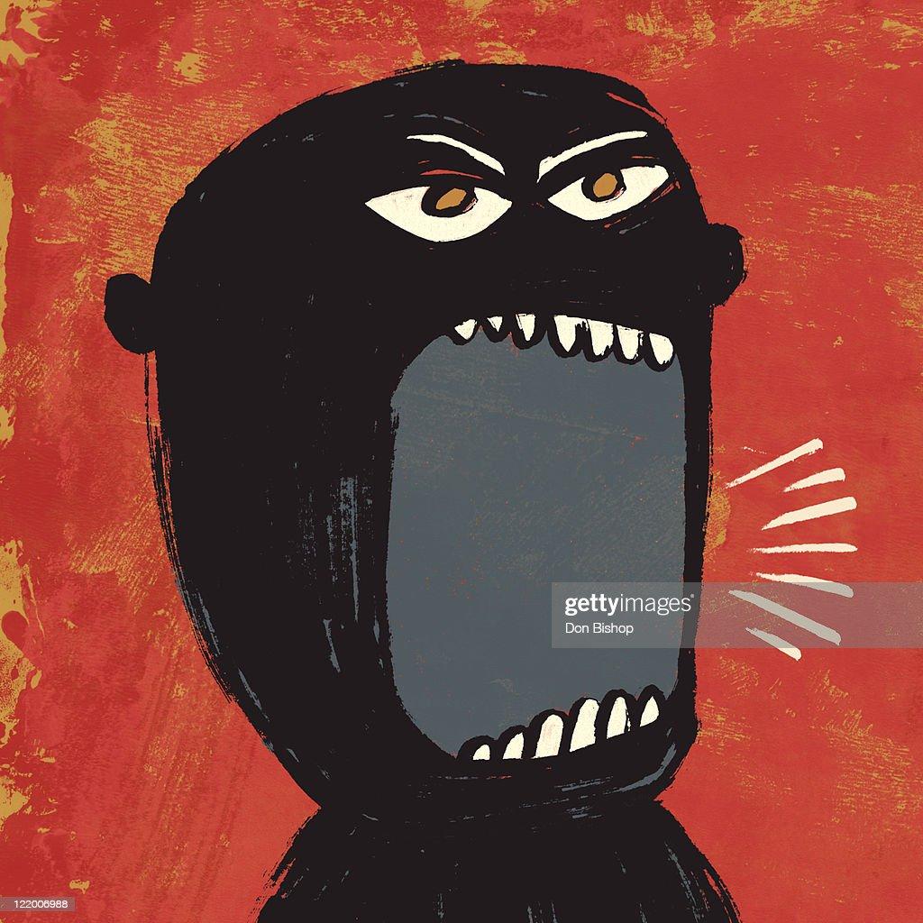 Angry shout man illustration : Stock Illustration