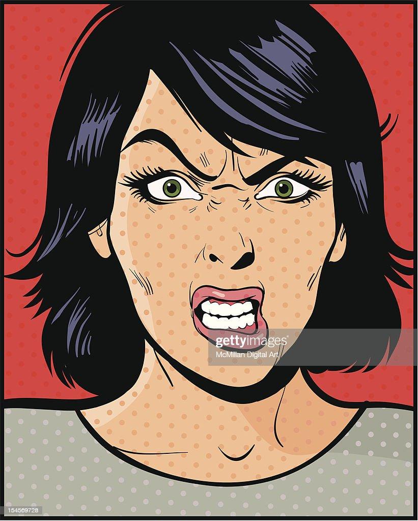 Angry woman : Vector Art