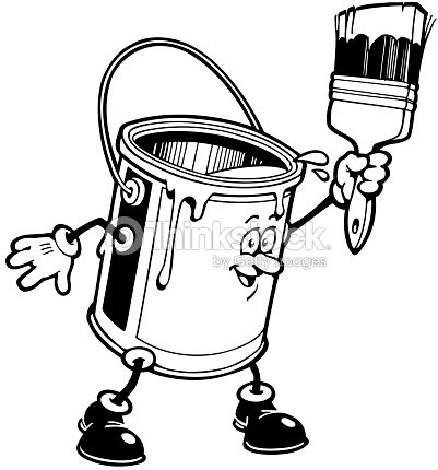 Animated Paint Can With Brush Stock Illustration - Thinkstock