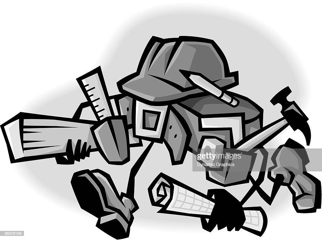 tool belt vector. animated tool belt grayscale : vector art