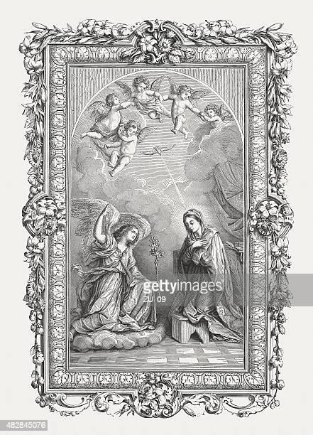 Annucation (150) par italien Guido Reni (Peintre), publié en 1878