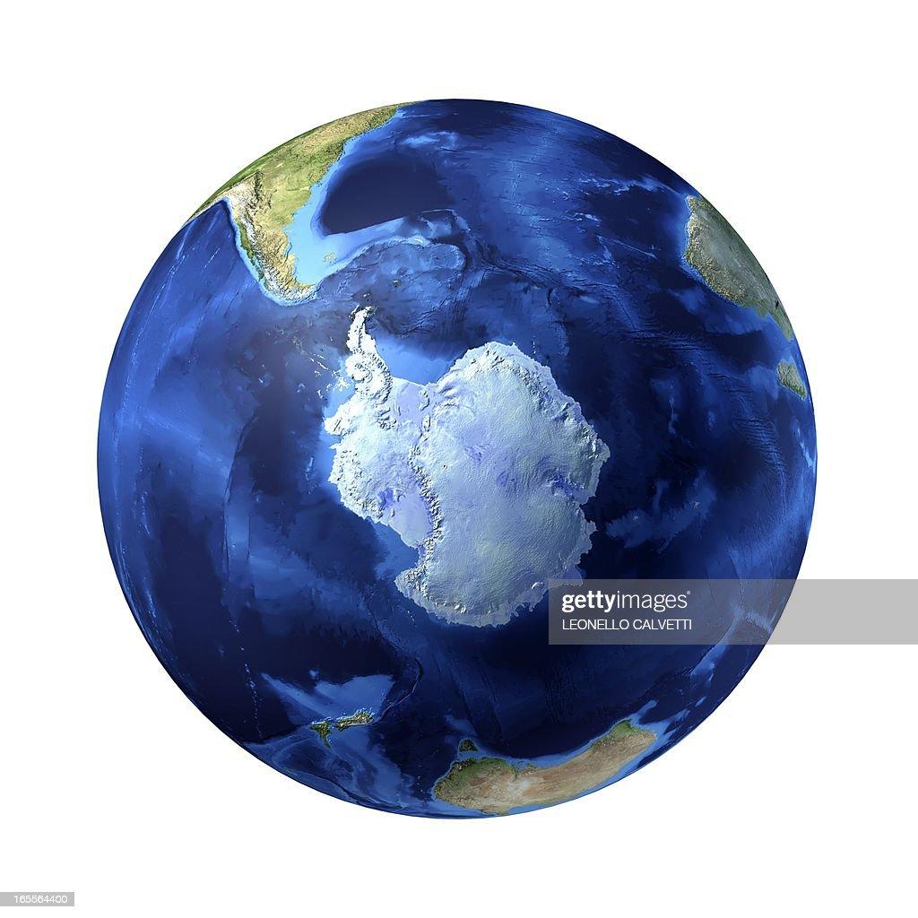 Antarctic, artwork : Stock Illustration
