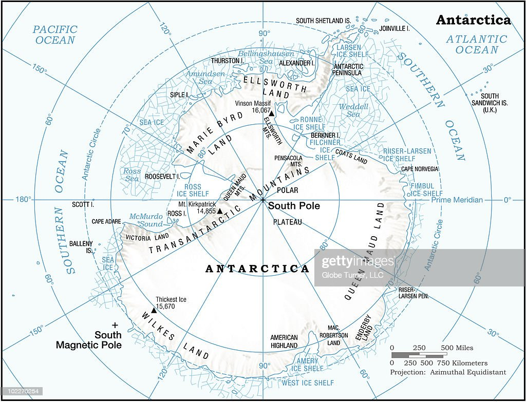 Antarctica continent map : Vector Art