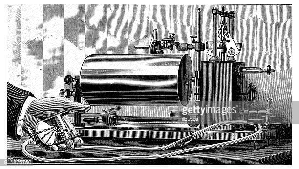 Antique illustration of dynamometer