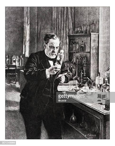 Antique illustration of 'Portrait de Pasteur' by Edelfelt