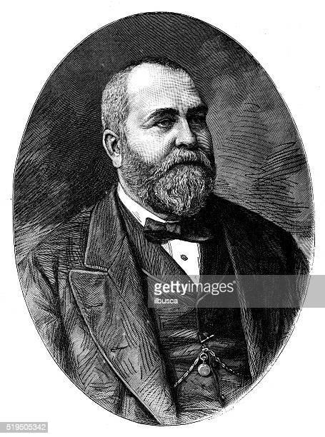 Antique illustration of portrait of Sir Philip Cunliffe-Owen
