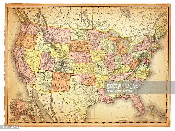 USA Antique Map