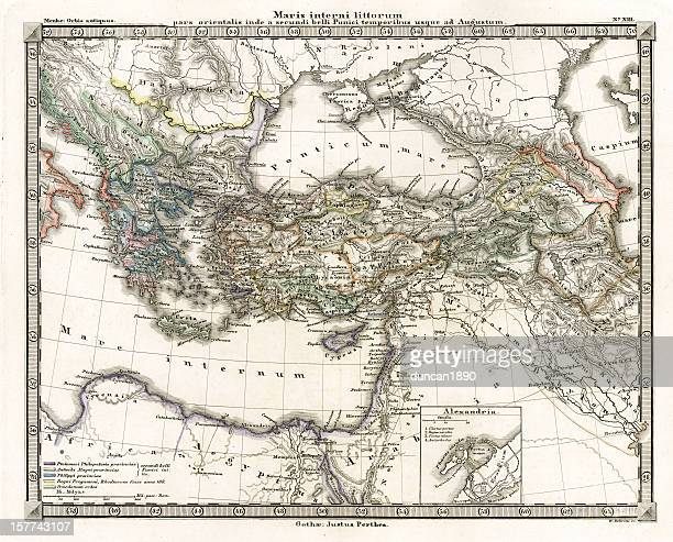 Antique Map of Ancient Eastern Mediterranean