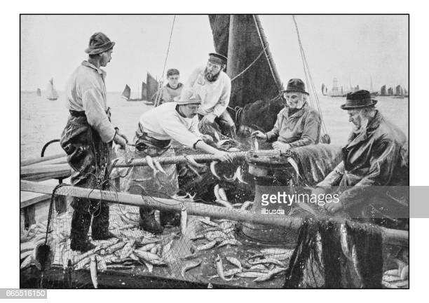 Antique photo of paintings: Fishermen