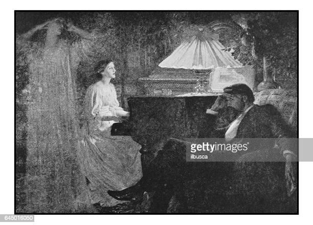 Antieke foto schilderijen: Ghost