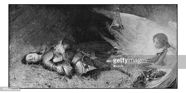 Antique photo de peintures: Jeanne d'Arc