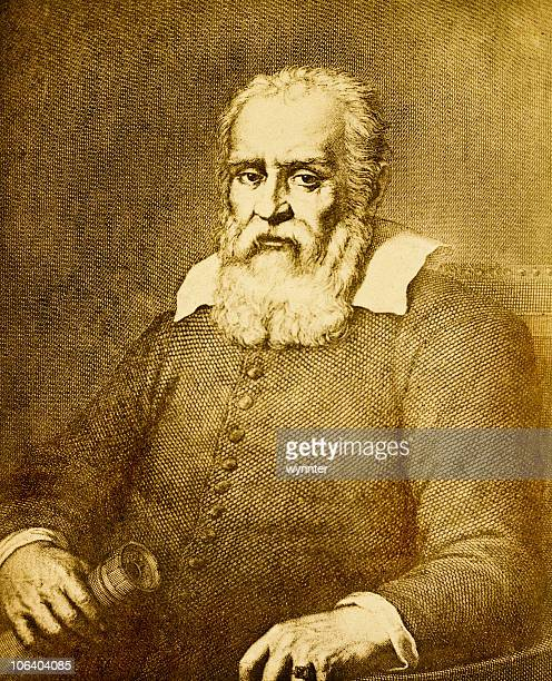 Antique Portrait of Galileo Galilei