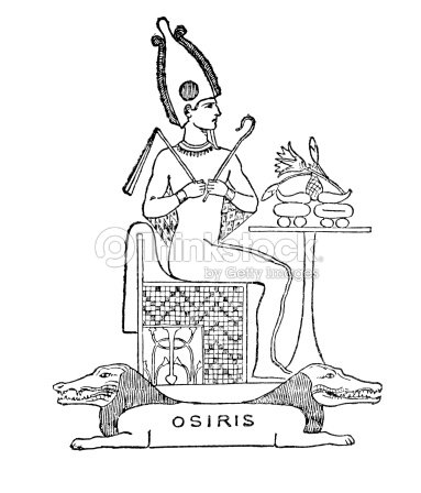 Antique Woodcut Drawing Osiris Stock Illustration | Thinkstock