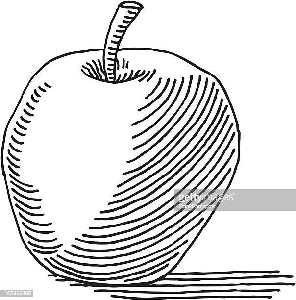 Illustrations et dessins anim s de pomme getty images - Dessin pomme apple ...