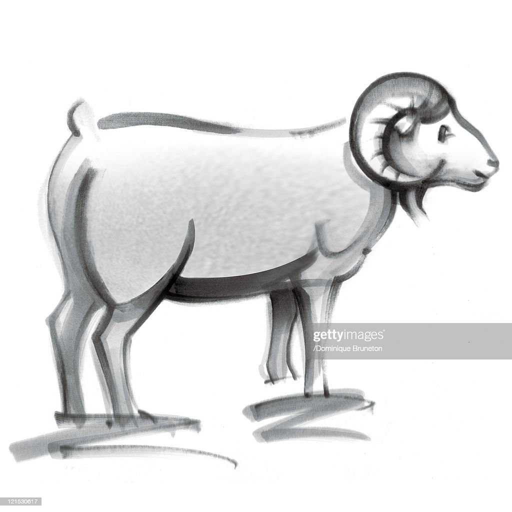 Aries astrological sign, illustration : Stock Illustration