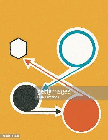 Seta de direcção : Ilustração de stock