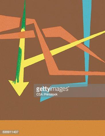 Flechas sobre fondo marrón : Ilustración de stock