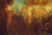art abstract grunge background with rusted metal color,digital painting