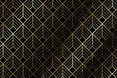 Art deco pattern textile with diamond shape - illustration