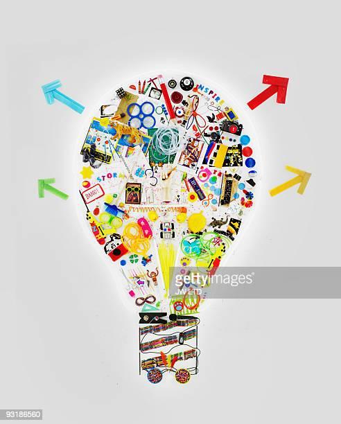 Art objects in shape of light bulb