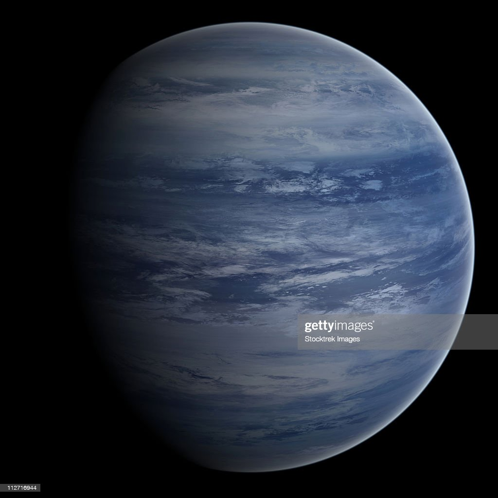 Artists Concept Of A Bluewhite Gas Giant Planet Stock ...