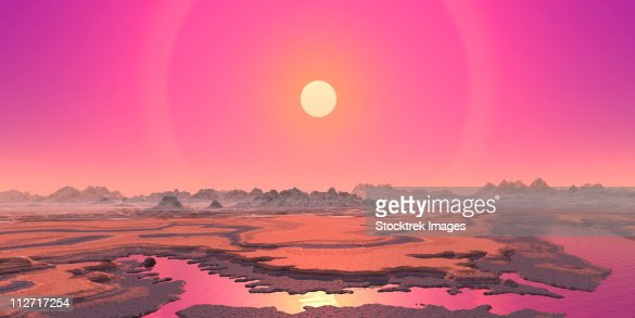 Artists Concept Of A Red Giant Over A Hypothetical Planet ...
