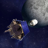 Artist's Illustration of the Lunar Crater Observation and Sensing Satellite (LCROSS).