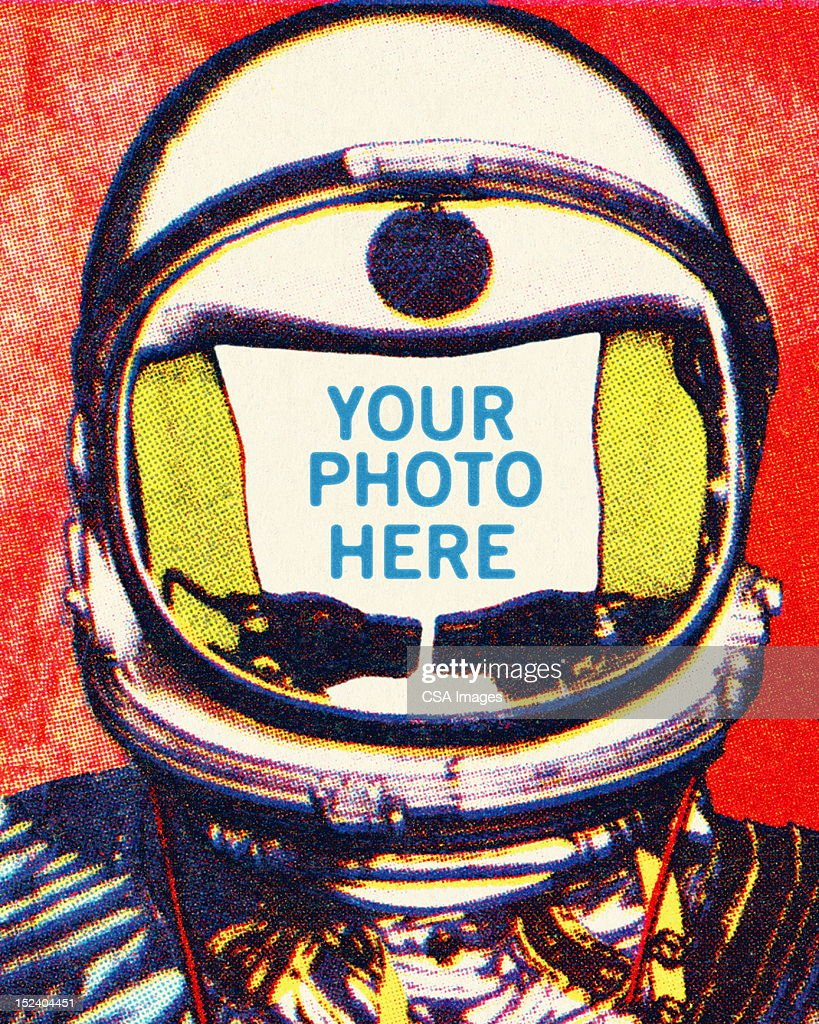 Astronaut Head Stock Illustration   Getty Images