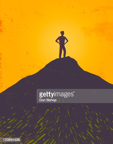 At The Top : Stock Illustration
