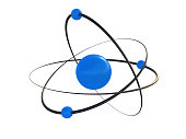 atom, 3d, atom isolated on a white background